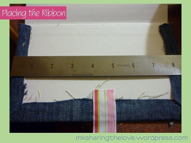 Placing the ribbon